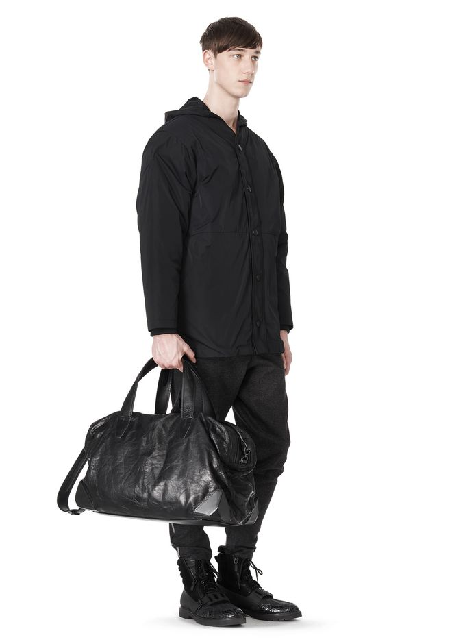 ALEXANDER WANG WALLIE DUFFLE IN WAXY BLACK WITH MATTE BLACK Travel Adult 12_n_r
