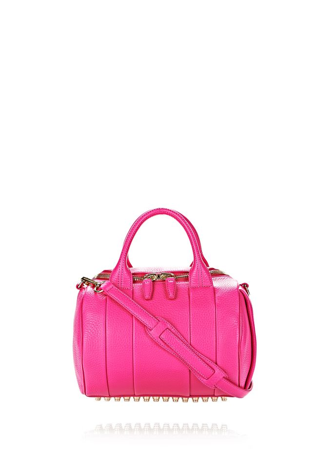 ALEXANDER WANG ROCKIE IN SOFT PEBBLED FLAMINGO WITH PALE GOLD Shoulder bag Adult 12_n_f