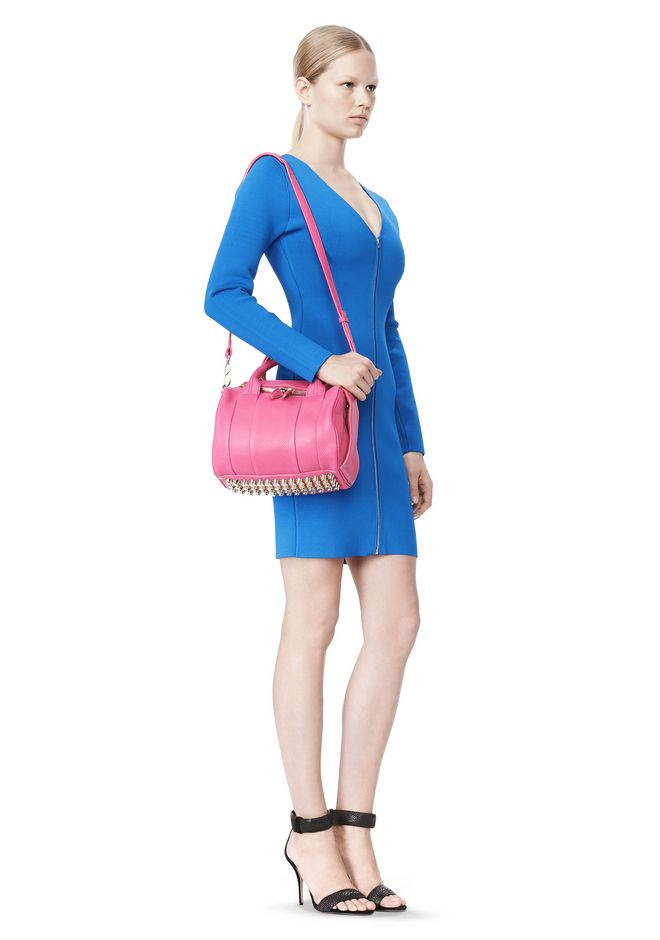 ALEXANDER WANG ROCKIE IN SOFT PEBBLED FLAMINGO WITH PALE GOLD Shoulder bag Adult 12_n_r
