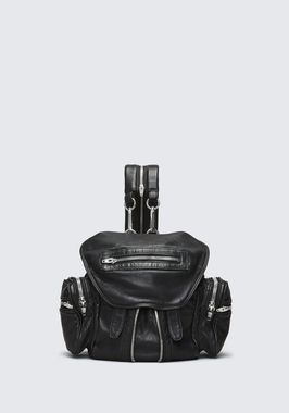 MINI MARTI BACKPACK IN WASHED BLACK WITH RHODIUM