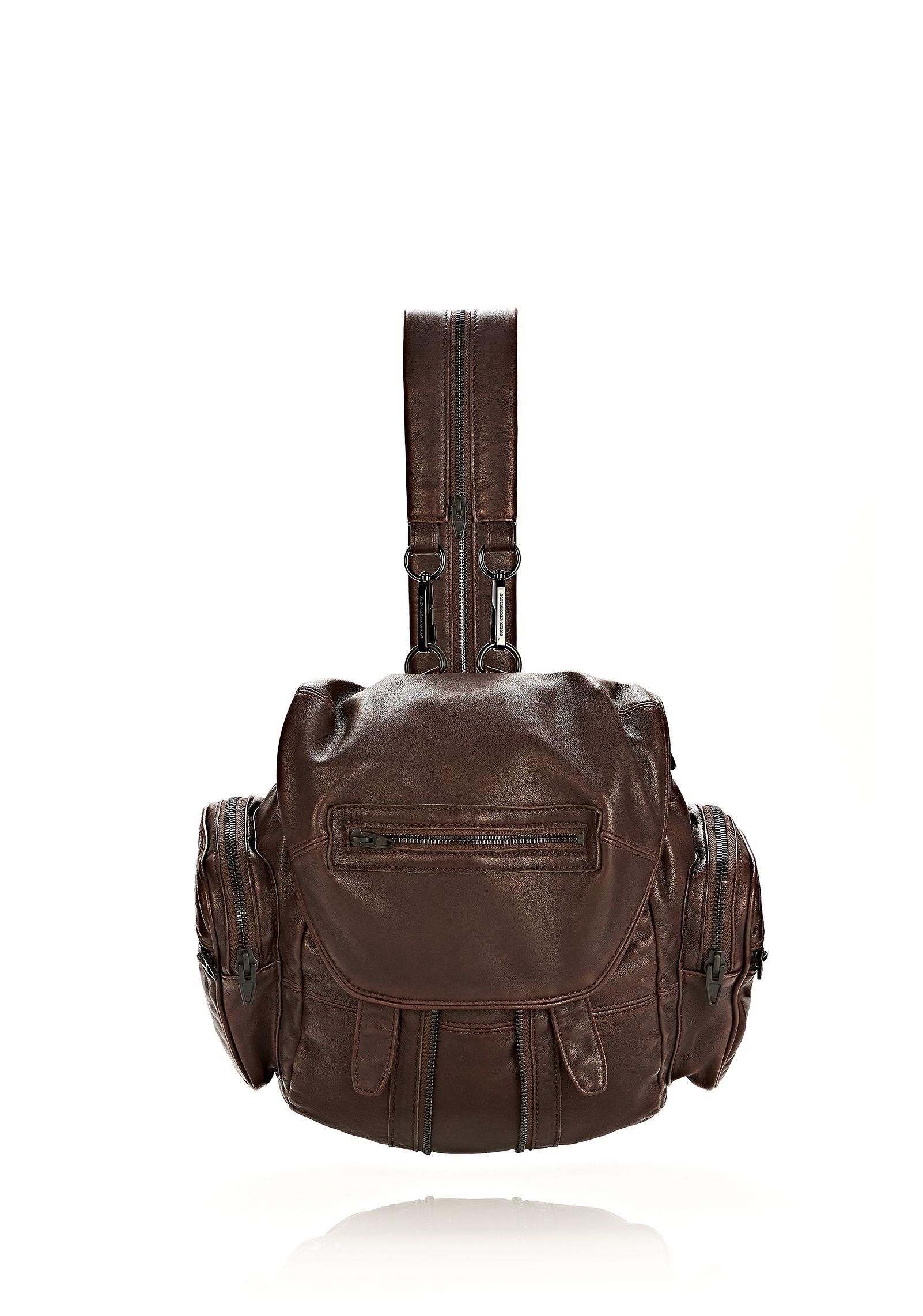 mini marti backpack in espresso with matte black zaini donna su alexander wang online store. Black Bedroom Furniture Sets. Home Design Ideas