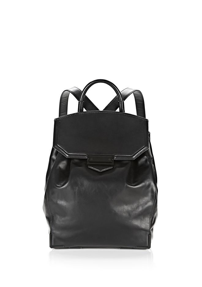 ALEXANDER WANG BACKPACKS Women PRISMA SKELETAL BACKPACK IN BLACK WITH MATTE BLACK