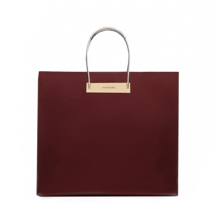 Balenciaga Cable Shopper M Patent Leather