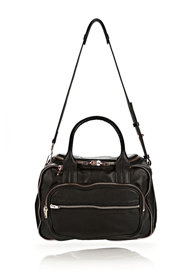 ALEXANDER WANG Shoulder bags Women EUGENE SATCHEL IN WASHED BLACK WITH ROSE GOLD