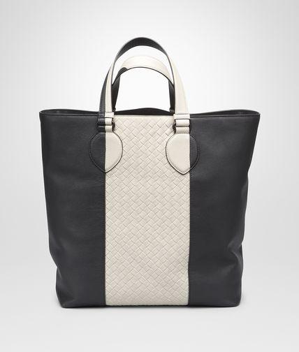 Medium Grey Mist Intrecciato Washed Nappa Tote Bag