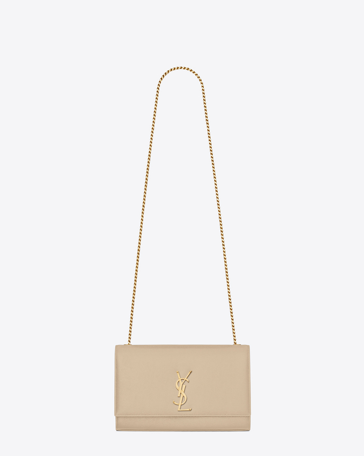 saintlaurent, CLASSIC MEDIUM MONOGRAM SAINT LAURENT SATCHEL IN Powder GRAIN DE POUDRE TEXTURED LEATHER