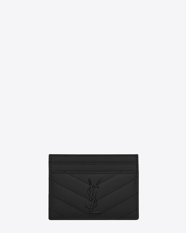 Saint Laurent MONOGRAM SAINT LAURENT CREDIT CARD CASE IN BLACK ...