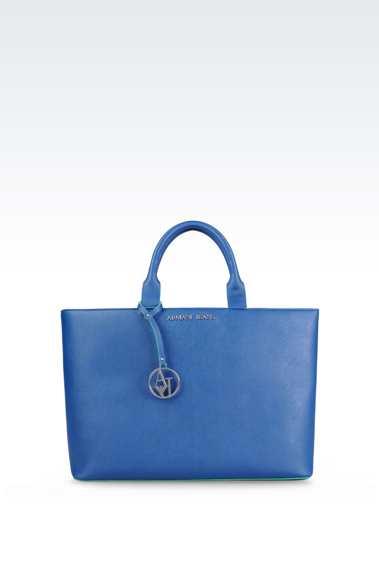 Shopping Bag in Faux Saffiano