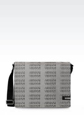 Armani Briefcases Men messenger bag in branded fabric
