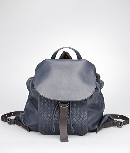 BACKPACK IN PRUSSE INTRECCIATO CALF