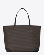 CLASSIC Toile Monogram Shopping Bag IN Black Printed Canvas and LEATHER