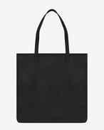 Délavé Shopping Bag in Black Leather