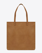 Délavé Shopping Bag in Tan Leather