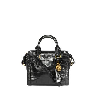 ALEXANDER MCQUEEN, Shoulder Bag, Stamped Crocodile Leather Mini Padlock
