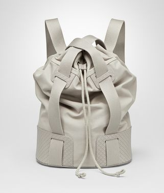 SAND CANVAS INTRECCIO SCOLPITO DETAILS BACKPACK - ONLINE BOUTIQUE EXCLUSIVE
