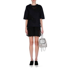 STELLA McCARTNEY, Backpacks, Falabella Quilted Metallic Mini Backpack