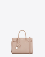 Classic Baby SAC DE JOUR BAG IN pale Pink Grained Leather