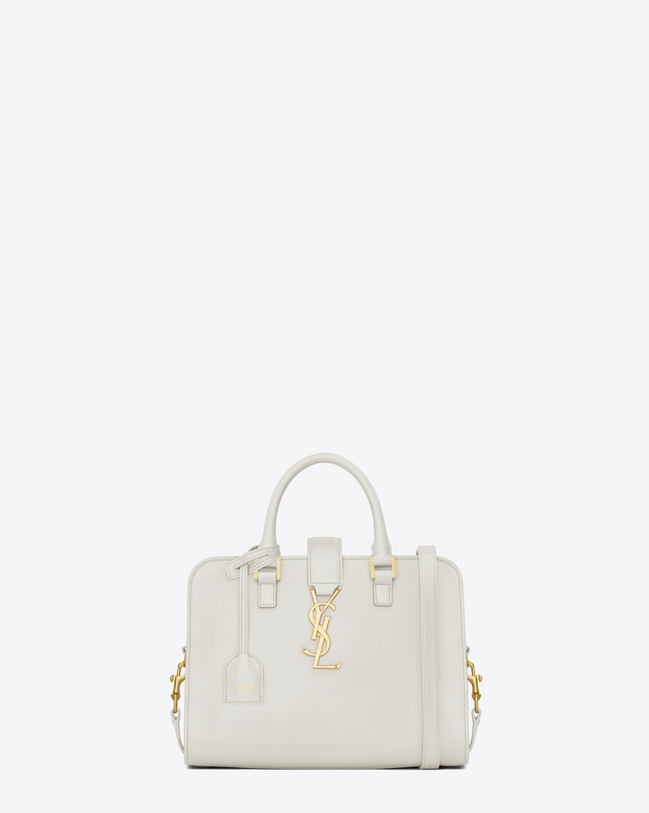 Saint Laurent Baby CABAS MONOGRAM SAINT LAURENT Bag In Dove White ...