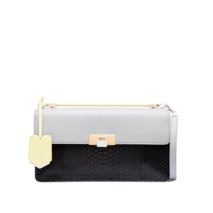 Balenciaga Le Dix Pochette Cartable Strap Python