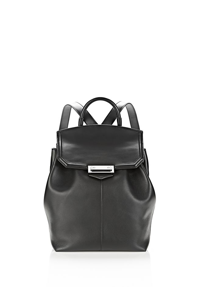 ALEXANDER WANG BACKPACKS Women PRISMA BACKPACK IN BLACK WITH RHODIUM