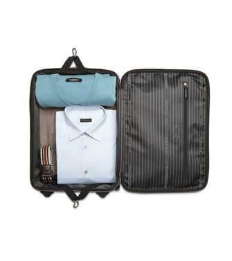 ERMENEGILDO ZEGNA: Wheeled Luggage Blue - 45261585KH