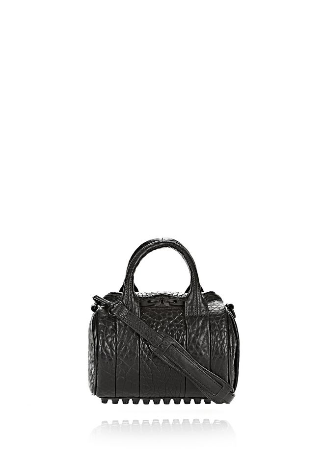 ALEXANDER WANG Shoulder bags Women MINI ROCKIE IN PEBBLED BLACK WITH MATTE BLACK