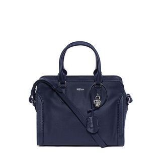 ALEXANDER MCQUEEN, Shoulder Bag, Small Grainy Calf Leather Small Padlock Zip Around