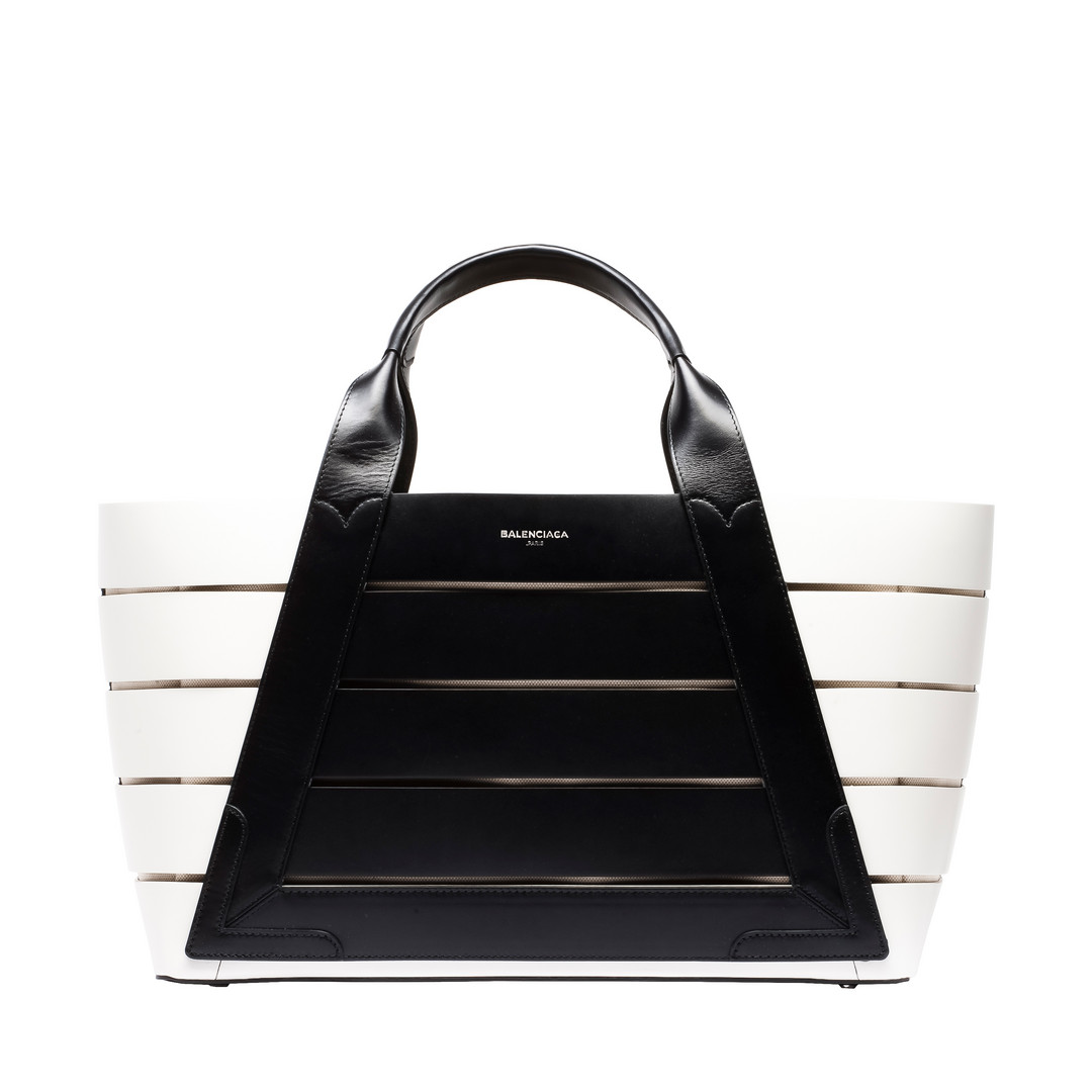Balenciaga navy cabas m large sized calfskin tote us complimentary