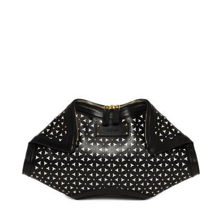 ALEXANDER MCQUEEN, Pouch, Classic Soft Calf Leather Cut Out and Studded De Manta Clutch