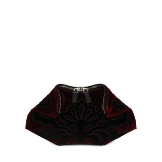 ALEXANDER MCQUEEN, Pouch, Velvet Embroidered Small De Manta Clutch