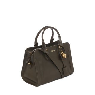 ALEXANDER MCQUEEN, Tote, Small Grainy Calf Leather Small Padlock Zip Around