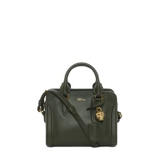 ALEXANDER MCQUEEN, Shoulder Bag, Small Grainy Calf Leather Mini Padlock