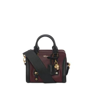 ALEXANDER MCQUEEN, Shoulder Bag, Grainy Calf Leather Mini Padlock