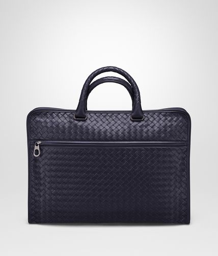 BRIEFCASE IN ATLANTIC INTRECCIATO CALF
