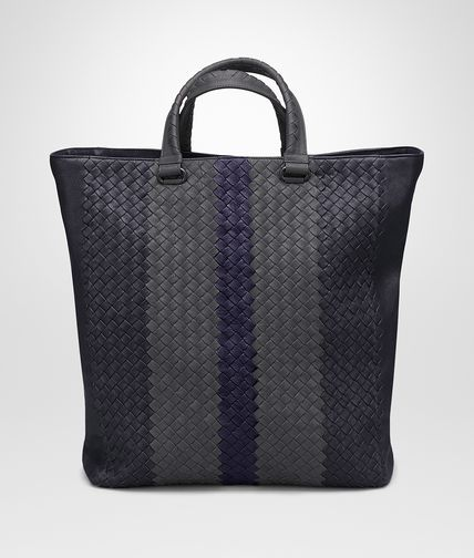 NEW DARK NAVY ARDOISE ATLANTIC INTRECCIATO CLUB TOTE BAG