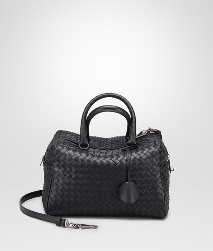 TOP HANDLE BAG IN NERO INTRECCIATO NAPPA