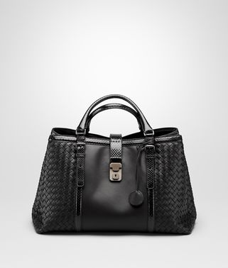 ROMA BAG IN NERO NAPPA, AYERS DETAILS