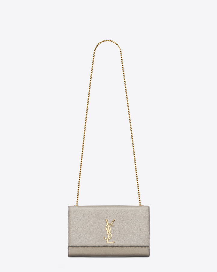 yves saint laurent large monogram grained leather shoulder bag