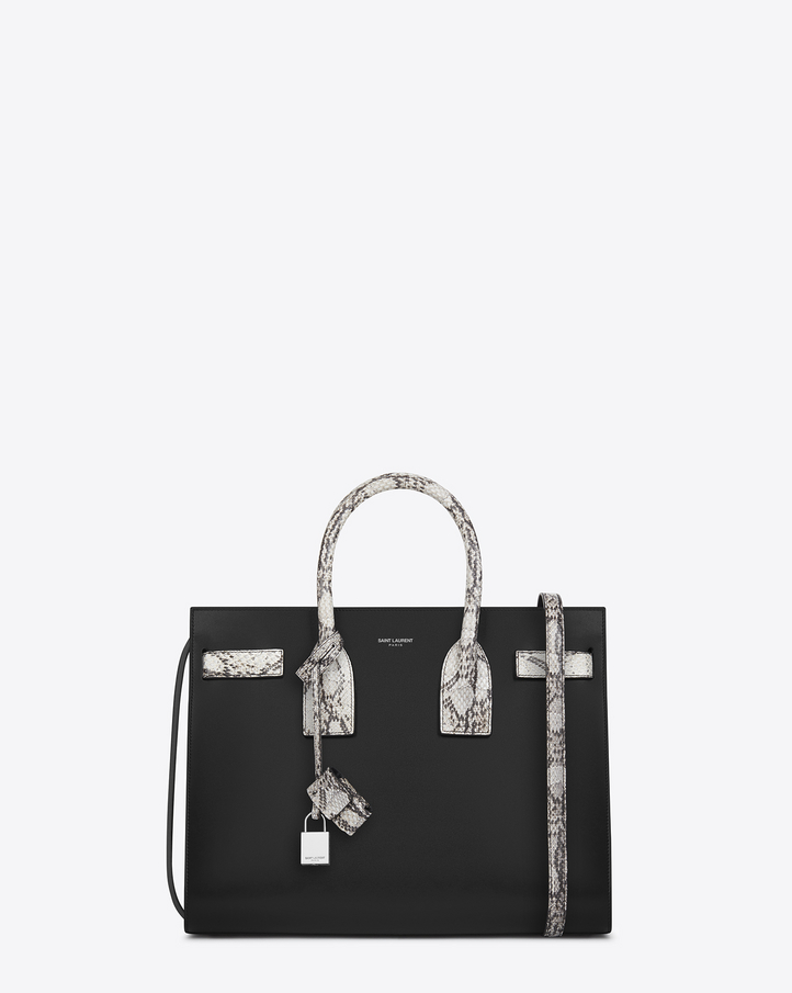 look a like bags - Saint Laurent CLASSIC SMALL SAC DE JOUR BAG IN Black Leather And ...