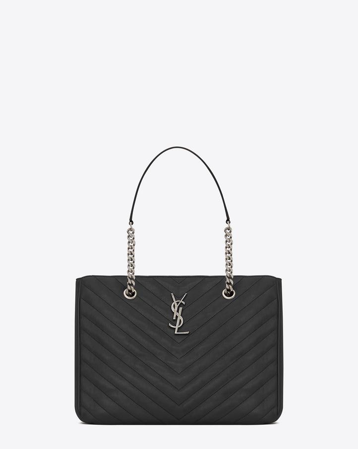 yves saint laurent ysl monogramme shopper ysl yves bag black