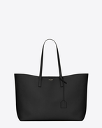 Large SHOPPING SAINT LAURENT Tote Bag nera in pelle