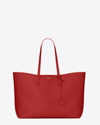 Large SHOPPING SAINT LAURENT Tote Bag in Red Leather
