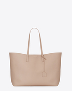 Large SHOPPING SAINT LAURENT Tote Bag color cipria chiaro in pelle