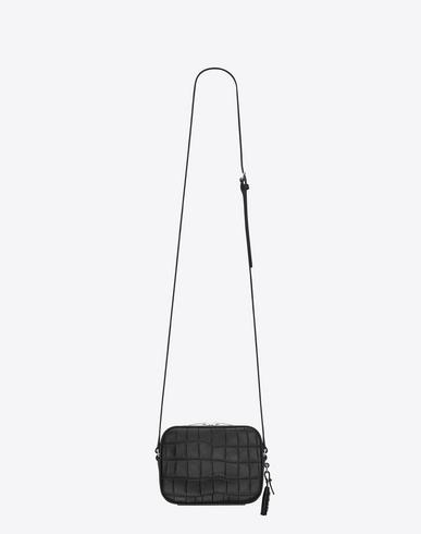 Classic Small Monogram Saint Laurent Camera Bag In Black Leather