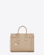 CLASSIC SMALL SAC DE JOUR BAG IN Dark Beige Grained LEATHER