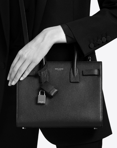 ysl shopper bag - classic baby sac de jour bag in royal blue grained leather
