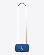 CLASSIC Baby MONOGRAM SAINT LAURENT CHAIN BAG IN Royal Blue MATELASSÉ LEATHER
