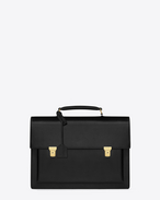 TUC Briefcase in Black Leather