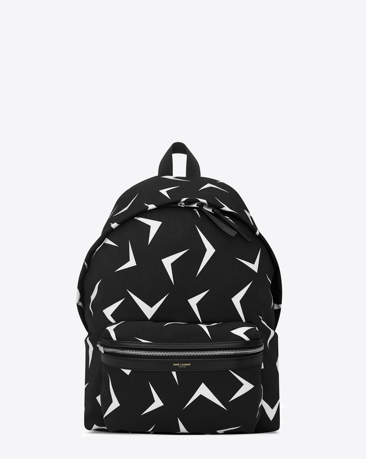 Saint Laurent CLASSIC HUNTING BACKPACK IN BLACK And White ...