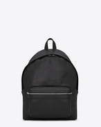 city backpack in black washed leather